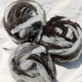 Jacob Roving - Black - Gray - White